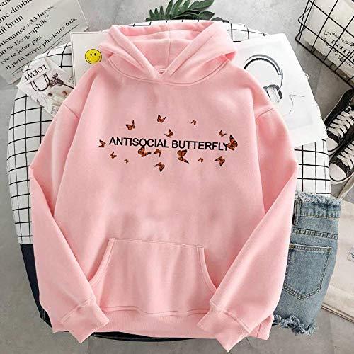 Hoodie Suéter Butterfly Sweatshirt Women Aesthetic Hoodie C