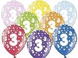 Party Deco Ballon d'anniversaire 3ans Décoration de fête couleurs assorties