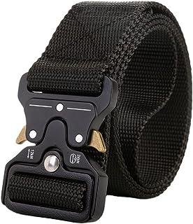 Men's Nylon Belt Adjustable Metal Buckle Canvas Belt Outdoor Long Big Size Male Belts