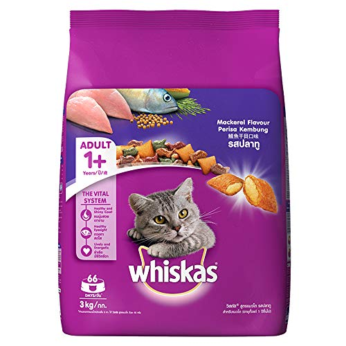 Whiskas Adult (+1 year) Dry Cat Food, Mackerel Flavour,...