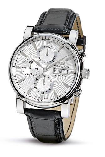 Philip Watch Phillip Watch R8221193015 - Reloj analógico automático para Hombre, Correa de Cuero Color marrón (cronómetro)