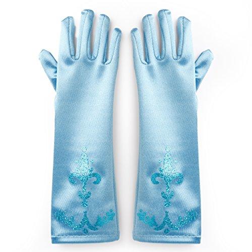 Katara 1098 - Prinzessin ELSA Handschuhe Party Fieber Kleid / Mädchen Kostüm Verkleidung Fasching Karneval, Blau …