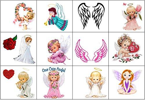 Collection de tatouages temporaires Temporary Tattoos collection (Tatouage d'ange Angel tattoo)