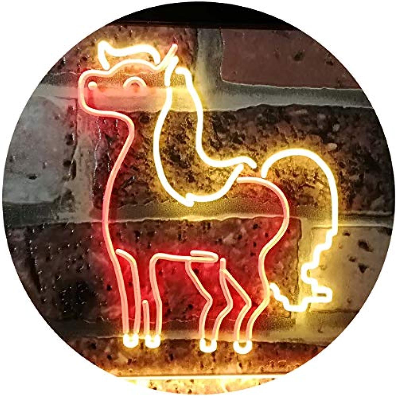 ADVPRO My Pony Unicorn Girl Kid Room Gifts Dual Farbe LED Barlicht Neonlicht Lichtwerbung Neon Sign rot & Gelb 16  x 12  st6s43-i3099-ry
