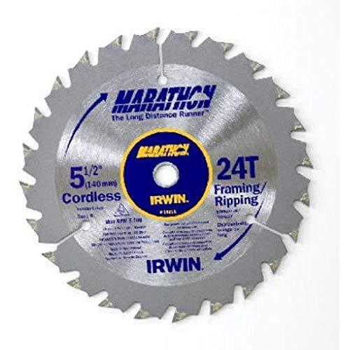 IRWIN Tools MARATHON Carbide Cordless Circular Saw Blade, 5 1/2-Inch, 18T Carded (14011)