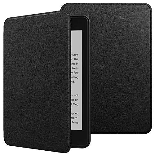 TiMOVO Hülle für Amazon Kindle Paperwhite E-Reader, Ultraschlank Schutzhülle aus Kunstleder Smart Hülle mit Auto Schlaf/Aufwach Funktion für Kindle Paperwhite (10th Gen, 2018 Releases) - Schwarz