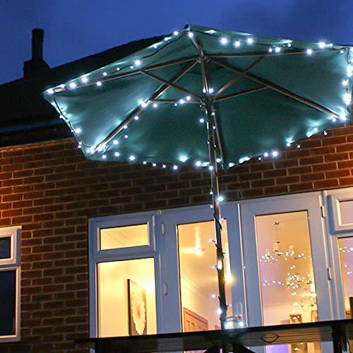 Festive Lights Guirlande Lumineuse Jardin Solaire 100 LED pour la Décoration Extérieure 10 mètres (Blanc)