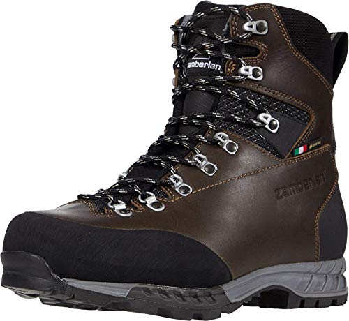 Zamberlan Aspen GTX RR Backpacking Boot - Uomo, nero (Marrone scuro cerato.), 41 EU
