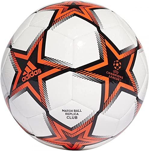 adidas unisex-adult Finale 21 Club Soccer Ball White/Black/Solar Red 5