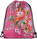 Bolsas con cordón Bolsas y cestas de compras Bolsas de compras reutilizables Bolsas de gimnasia Bolsas deportivas Mochilas casuales Invitation Floral Decoration Card Customized Drawstring Backpack Bag