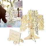 Libro degli ospiti per matrimonio, albero con cuori in legno, alberi, alternativa al libro degli ospiti