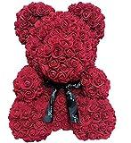 Rose Bear Teddybär - Frauen Mädchen Künstliche Blume Puppe Bär Jahrestag Valentinstag Hochzeit...