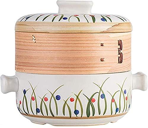 CJCJ-LOVE Cacerola de sopa resistente al calor apta para cocina de inducción, cacerola de cerámica con mango dualhandled Batería de cocina olla de sopa, olla caliente de 5 litros