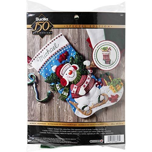 Bucilla Nordic Snowman Stocking Kit
