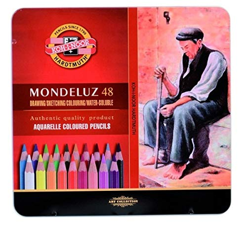 Koh-I-Noor Mondeluz 3726 Künstler Aquarellbuntstifte, 48er Set