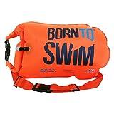 BornToSwim Unisex-Adult Safer Swimmer Trockentasche und Schwimmboje (Robust) Boje Und Packsack Für Offenen Gewässern Schwimmer Und Triathleten, Orange, 64 x 30 x 0.05 cm