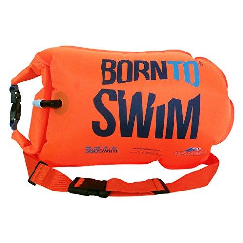 BOR NTO Swim saferswimmer Tasche a Secco e Boa Galleggiante (Robusto) Boa e Sacco per acque Aperte Nuotatori e triatleti, Unisex, SaferSwimmer Trockentasche und Schwimmboje (Robust), Orange, L