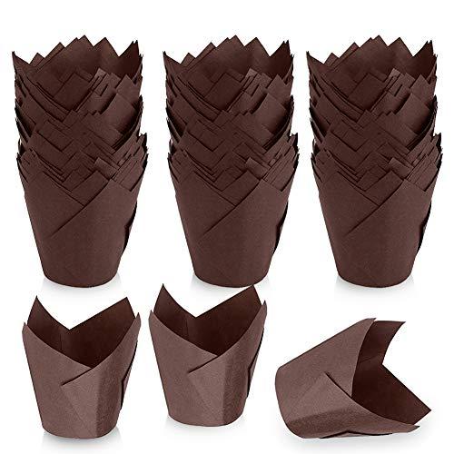 KKTICK Vasos desechables para hornear, 200 unidades, de papel a prueba de...