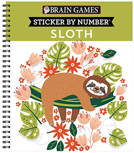 Brain Games - Sticker by Number: Sloth