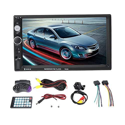 Auto Parts-7in 2DIN Car MP5 Player Manos libres Bluetooth Radio FM con cámara 7023B Autopartes