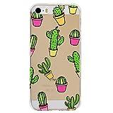 Mosoris Coque iPhone 5S, iPhone Se Souple Housse Etui - TPU Silicone Clair Transparente Housse Ultra Mince [Anti Choc] [Anti-Rayures] Coque pour iPhone 5 / 5S / Se, Motif de Cactus