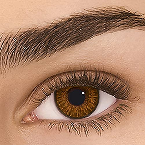 Sehr stark deckende natürliche Kontaktlinsen farbig,farbige Monatslinsen aus Silikon Hydrogel(HEMA),Weiche Kontaktlinsen mit großen Augenfarben Vergrößern Sie,1Paar(2Stück),DIA 14.00,ohne Stärke,BRAUN