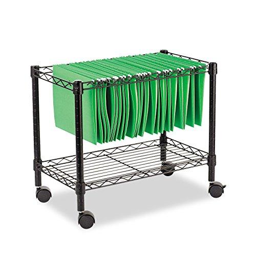 Alera ALE Single-Tier Rolling File Cart, 24w x 14d x 21h, Black