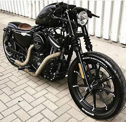 JBSporty ♤ Harley Davidson Sportster ♤ Black Out Vinyl Decal Fork Kit ♧ Iron 72 Nightster Custom Black Gloss