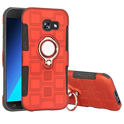 Labanema Galaxy A5 2017 Hülle, Ring Kickstand 360 Grad rotierenden Fingerring Grip Drop Schutz Stoßdämpfung Weichen TPU Cover für Samsung Galaxy A5 2017-Rot
