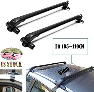 2019 New Universal Car Top Luggage Cross Bars Roof Rack Lockable Anti-Theft Design - Size 105CM x 6CM x 7CM (41.3 Inch)