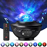 Night Light Projector with Remote Control, Eicaus 2 in 1 Star Projector with LED Nebula Cloud/Moving Ocean Wave Projector...