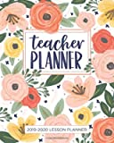 Lesson Planner for Teachers - Weekly and Monthly Teacher Planner | Academic Year Lesson Plan and Record Book with Floral Cover (July through June)