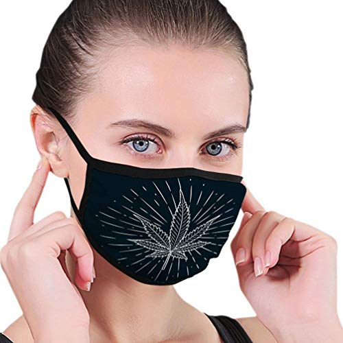 Waschbarer und wiederverwendbarer Gesichts-Mund-Schutz Handgezeichnete Cannabis-Blatt-Tafel Gebrauchtes Poster-Verbot