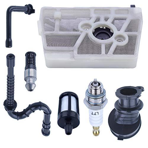 Línea de Filtro de Aire y Combustible Kit con bujía para Stihl MS240 028AV 024026 Repuestos para Motosierra 1121 120 1625