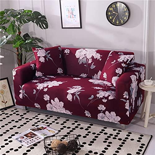 WXQY Funda de sofá elástica con patrón a Cuadros, Juego de Esquina de sofá Modular Universal elástico, Funda de sillón para Muebles, Funda de sofá A12, 3 plazas