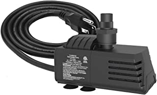 Submersible Water Pump 11.5ft Power Cord 1100GPH Ultra Quiet Pump with Dry Burning Protection for Fountains, Hydroponics, Ponds, Statuary, Aquariums & More …