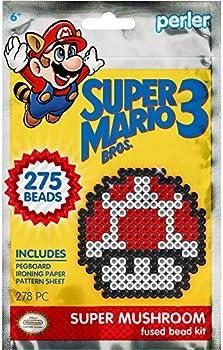 Perler Beads Super Mario Bros Super Mushroom Kit