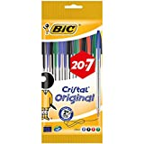 Bic Cristal Original punta media 1 mm confezione 27 penne colori assortiti