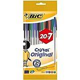 BIC Cristal Original Stylos-Bille Pointe Moyenne (1,0 mm) - Couleurs Assorties, Pochette Format Spécial de 27