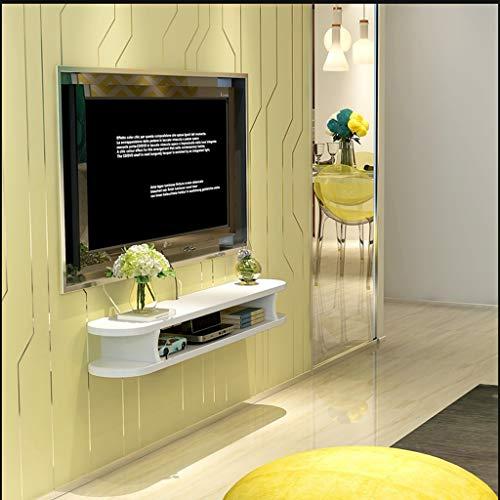 WXQIANG Soporte de pared decorativo para TV, armario de entretenimiento, unidad de gestión de almacenamiento, reproductor de DVD, estante flotante duradero y protector (color: D (120 cm)