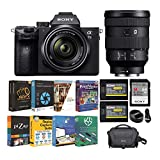 Sony Alpha a7 III Full Frame Mirrorless Digital Camera with 28-70mm OSS and FE 24-105mm f/4 G OSS Full-Frame Lens Bundle (6 Items)