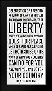 JFK Speech Framed Art Print by PI Studio