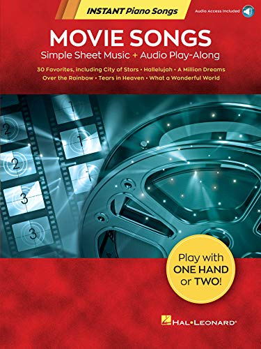 Movie Songs - Instant Piano Songs: Simple Sheet Music + Audio Play-Along (English Edition)
