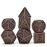 Metal Dice Set D&D, Dungeons and Dragons DND Dice Set, Retro Number Rainbow Unique Polyhedron Game Role Playing Metal Dice Set
