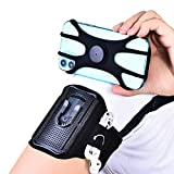 DQL Cell Phone Armband,360°Rotation & Detachable Water Resistant Smartphone Armband for Fitness,Running,Walking,Hiking,Black