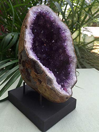 KCHEX Display Stand for Gemstone Mineral Specimens Citrine Amethyst Geode Stand Prong