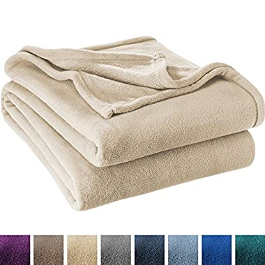 Ivy Union Ultra Soft Microplush Velvet Blanket - Luxurious Fuzzy Fleece Fur - All Season Premium Bed Blanket (Full/Queen, Oyster)
