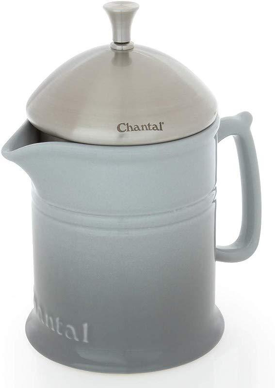 Chantal Ceramic French Press 4 Cup Fade Gray