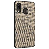 TurtleArmor | Compatible with Samsung Galaxy A20 Case | Galaxy A30 Case | Galaxy A50 Case | Engraved Grooves Slim Armor Dual Layer Hybrid Case Girl Designs - Fishing Hooks
