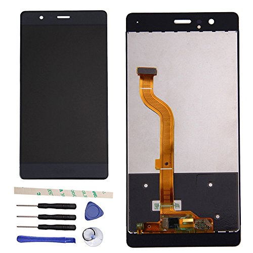 Draxlgon Reemplazo de Pantalla LCD para Huawei P9 Standard EVA-L09 EVA-L19 EVA-L29, Pantalla LCD Pantalla táctil Digitalizador Conjunto de Vidrio (Negro)